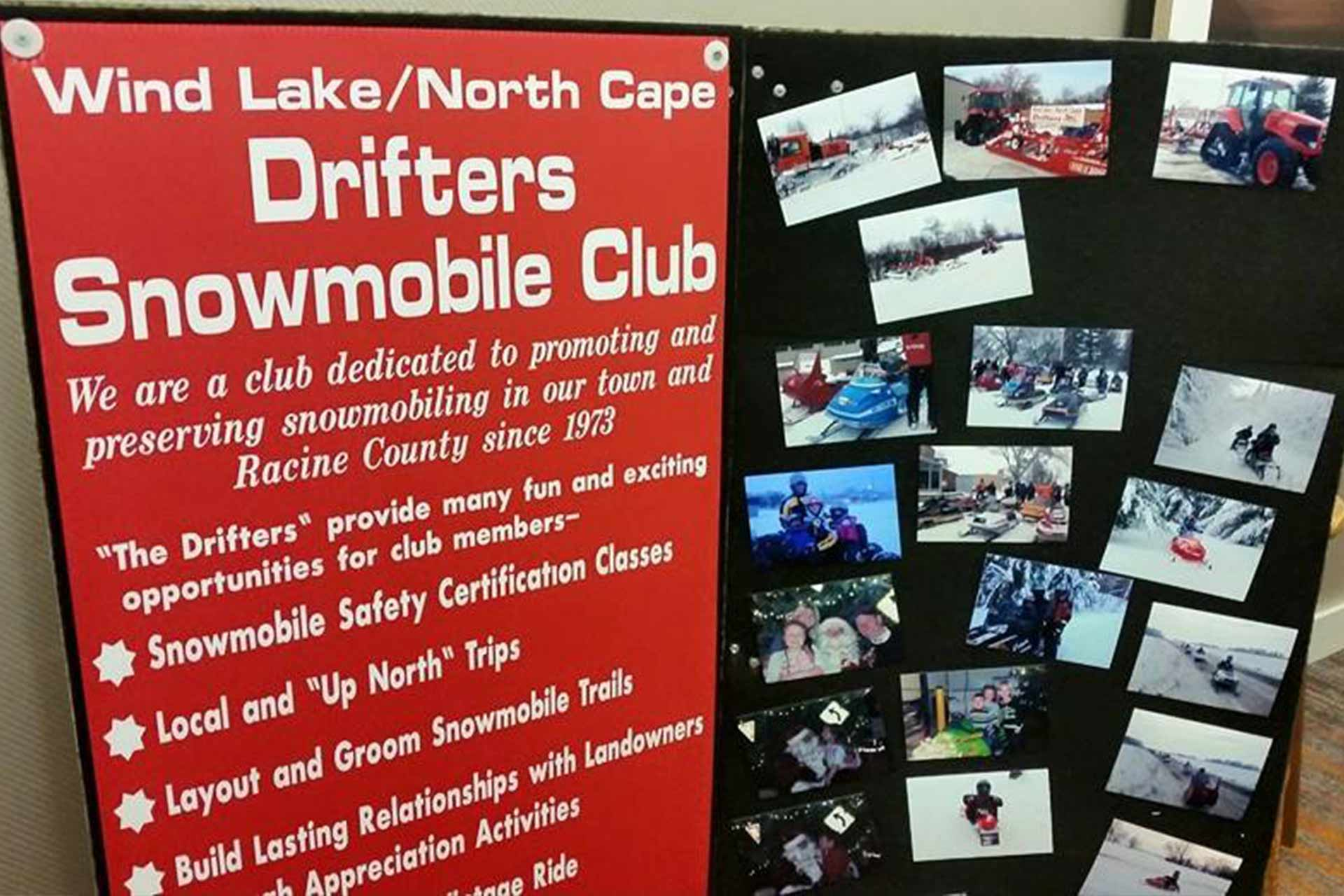 Wind Lake North Cape Drifters Snowmobile Club